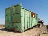 Big Green Dumpster — Photo