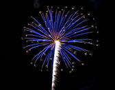 Blauwe ster uitbarsting — Stockfoto