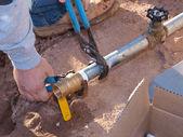 соединение клапана — Стоковое фото