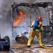 Stock Photo: RV Fire