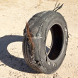 Shredded Tire — Stock Photo