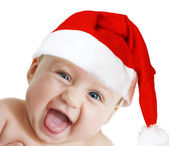 Surprised Santa-girl — Stock Photo