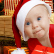 Helper with presents — Foto de Stock
