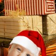 Santa helper with presents — Stock Photo