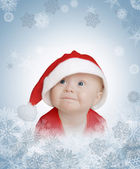 Baby-santa profile — Stock Photo
