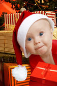 Helper with presents — Stock Photo