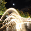 Stock Photo: Fountains at Columbus Cirlce at Night