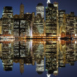 Lower Manhattan Skyline - Stock Photo