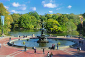 Central Park Fountain — Stock Photo