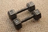 12 Pound Dumbells — Stock Photo
