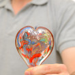 Stock Photo: Mans Heart