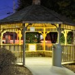 Stock Photo: Night Gazebo
