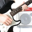 Guitarist and Amp — Stock Photo #5041543