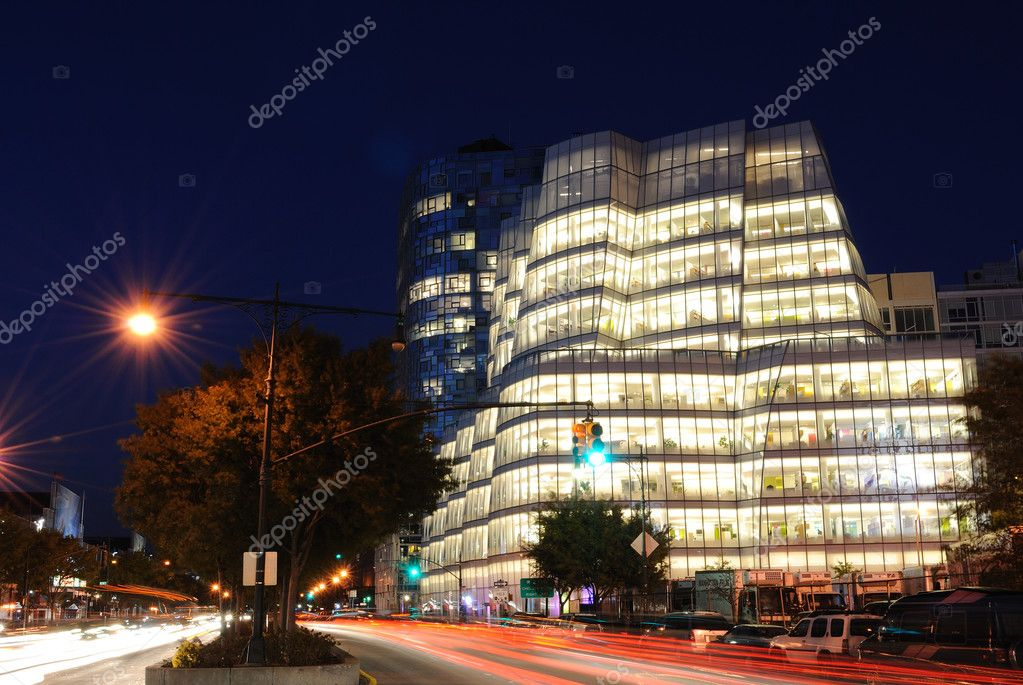 IAC building on the west side of Manhattan in Chelsea was built by Frank Gehry for InteractiveCorps.  New York, New York.  Stock Photo #5183639