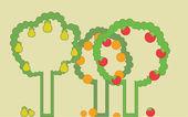 Fruit Garden — Stock Vector