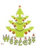 Stock Market Christmas Tree Concept — Stock Vector