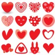 Stock Vector: Heart Icons Set