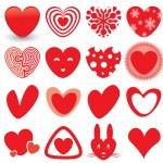 Heart Icons Set — Stock Vector