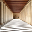 Ancient hallway in Athens, Greece - Stock Photo