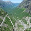 The famous Trollstigen road in Norway — Stock Photo