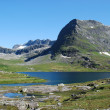 River and lake at Trollstigen, More og Romsdal, Norway — Stock Photo