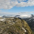 Stock Photo: On top of mountain, Dalsnibba, Norway