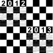 Royalty-Free Stock Imagem Vetorial: Square calendar for 2012 and 2013