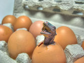 Monster hatching from egg — Stock Photo