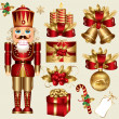 Royalty-Free Stock Vektorfiler: Vector set: traditional christmas elements