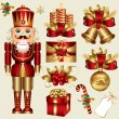 Vector set: traditional christmas elements - Stock Vector