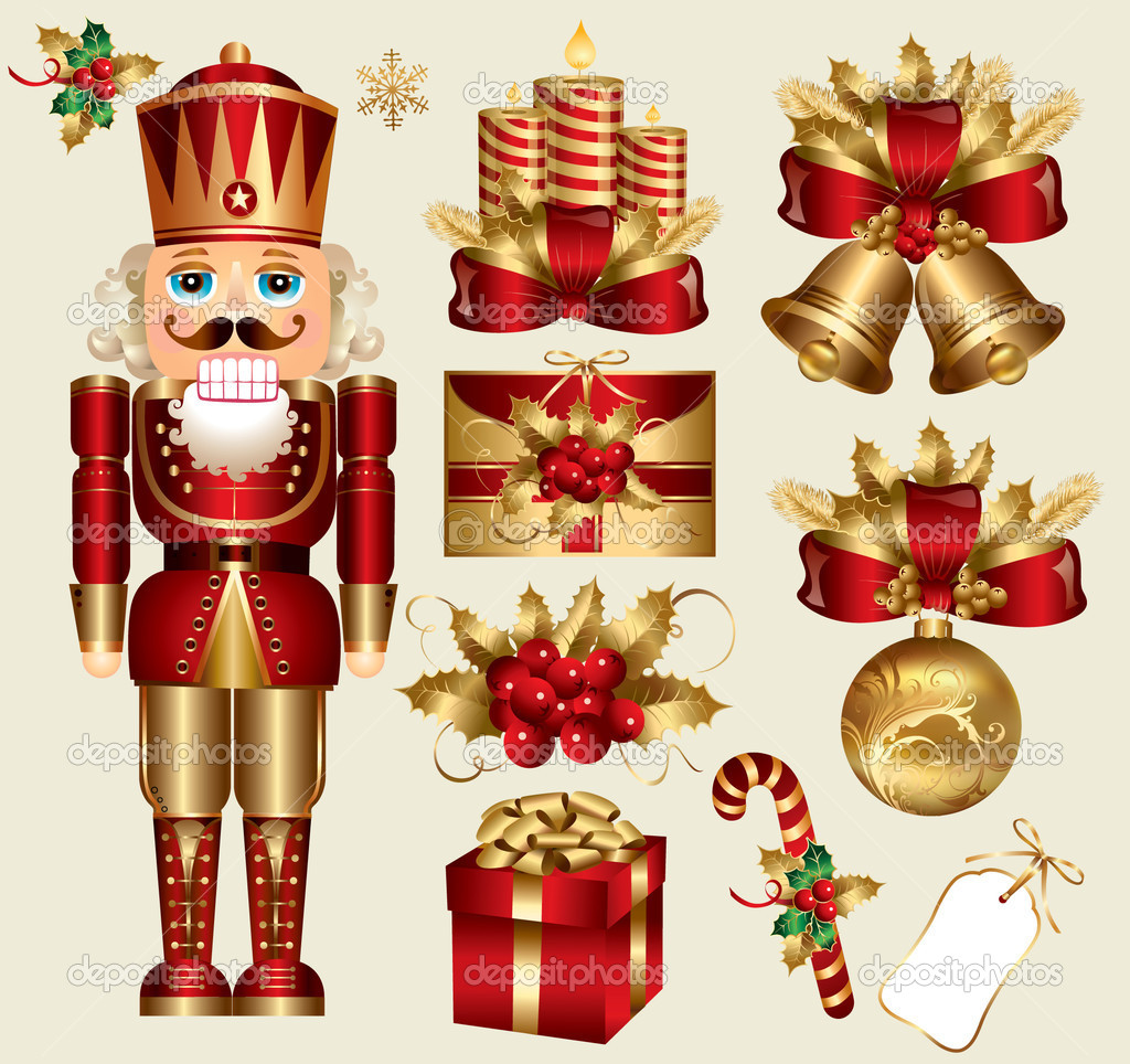 Vector set: traditional christmas elements  Stock Vector #4305573