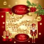 Vector christmas illustration — Stock Vector #4387364