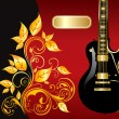 Royalty-Free Stock Vector Image: Illustration with guitar