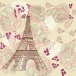 Vector card with eiffel tour — Vector de stock #4387459
