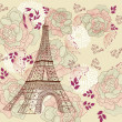 Vector card with eiffel tour — Vetorial Stock #4387459