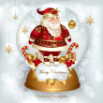 サンタ クロースとクリスマス バナー — ストックベクタ