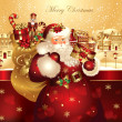 Christmas banner with Santa Claus — Stockvector #4387556