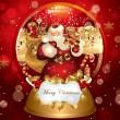 banner di Natale con Babbo Natale — Vettoriale Stock