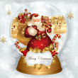 Christmas banner with Santa Claus — Vector de stock #4387570