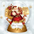 Christmas banner with Santa Claus — Image vectorielle