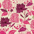 Vector Illustration: flower background. Fragment — Stock Vector