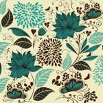 Vector Illustration: flower background. Fragment — Stock Vector #4387612