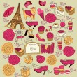 Royalty-Free Stock Vector Image: Vector Collection symbols of Paris