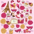 Vector Collection symbols of Paris — Stock Vector #4387675