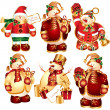 Royalty-Free Stock Векторное изображение: Vector set of snowmans with gifts