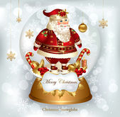 Christmas banner with Santa Claus — Stock Vector