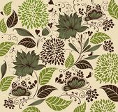 Vector Illustration: flower background. Fragment — Stockvector