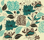 Vector Illustration: flower background. Fragment — ストックベクタ
