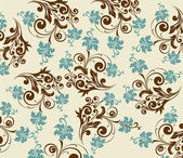 Vector flower curly pattern — Stock vektor