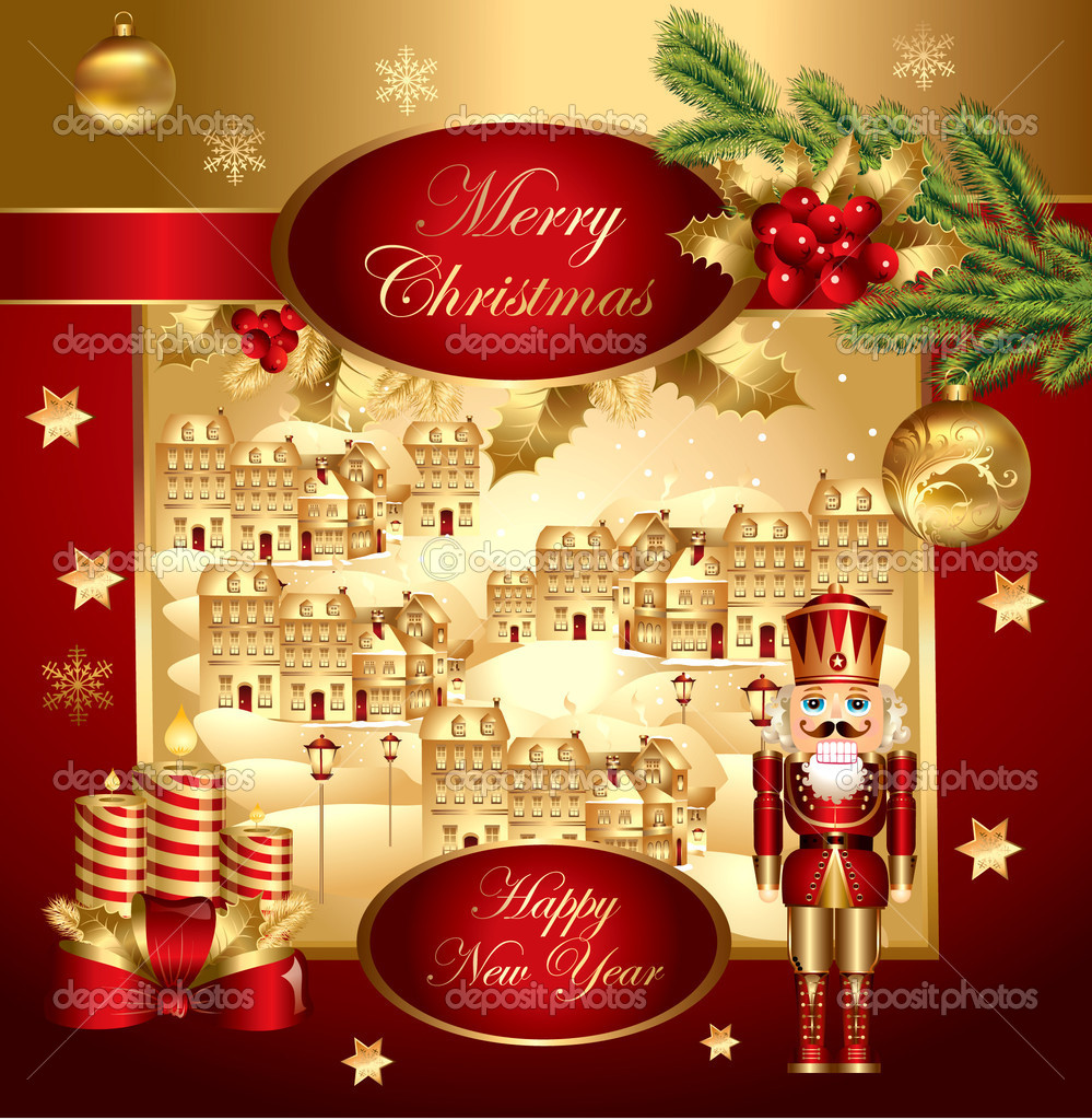 Vector christmas illustration  Image vectorielle #4387364